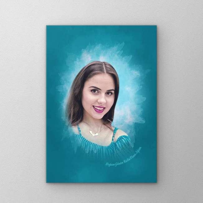 kadın sevgiliye portre hediye